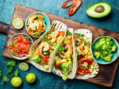 bigstock-Shrimps-Tacos-With-Salsa-Vege-241652656